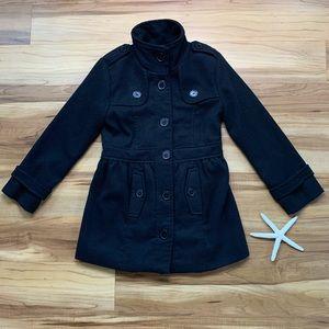 Amy Byer Girl's Black Pea Coat Jacket